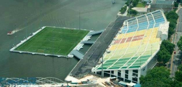 Fushe futbolli ne uje