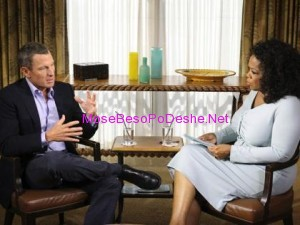 Lance Armstrong  gjate  interviste