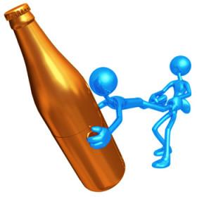 Kujdes, entuziazem + alkool = rezultati (video)