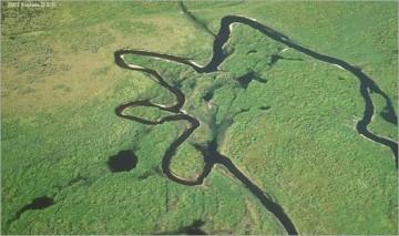 Lumi në Fisheating Creek në Florida.
